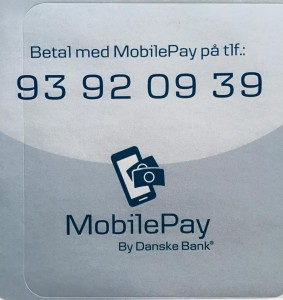 Image of MobilePay number