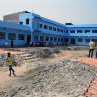 Schoolyard Baghmara, Indien